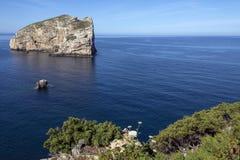 Insel von Foradada - Cala Dell Inferno - Sardinien, Italien Stockfotografie