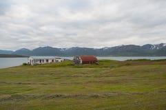 Insel von Hrisey in Island Stockfotografie