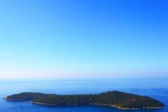 Insel von lokrum dubrovnik kroatien Lizenzfreie Stockfotografie