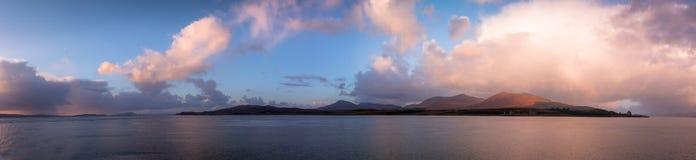 Insel von Mull Sonnenuntergang lizenzfreie stockbilder