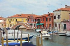 Insel von Murano in der Lagune von Venedig - Italien Stockbilder