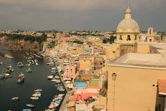 Insel von Procida, Marina Corricella lizenzfreies stockfoto