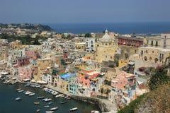 Insel von Procida, Marina Corricella lizenzfreie stockbilder