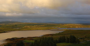 Insel von Skye, Hochländer Schottland Stockfotografie