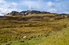 Insel von skye, Quiraing-Berg, szenische Landschaft Schottlands stockfoto