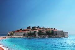 Insel von St Stefan (Budva, Montenegro) Stockbilder