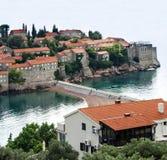 Insel von St Stephen, Budva, adriatisches Meer, Montenegro Stockfotografie