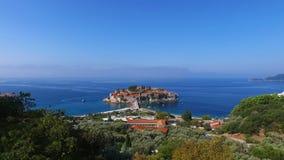 Insel von Sveti Stefan, Montenegro stock video footage