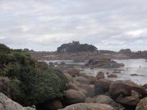 Insel Zusatz-oiseaux - Region von Bretagne - Morbihan lizenzfreies stockbild