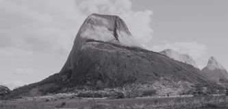 Inselberg in rural Mozambique. A towering inselberg in the wilderness of northern mozambique Royalty Free Stock Photography