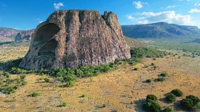 INSELBERG. Terrain iland in Itatim Stock Photography
