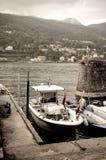 Inseldock der Fischer Stockfoto