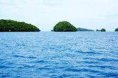 Inseln auf dem Meer, Palau Stockfotos