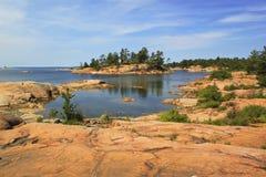 Inseln der georgischen Bucht, Killarney provinzieller Park, Ontario, Kanada Stockfotografie