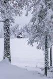Inseln des verschneiten Winters Lizenzfreie Stockfotografie