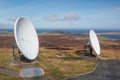 Inseln Fernsehaufnahmeantenne Lizenzfreies Stockfoto