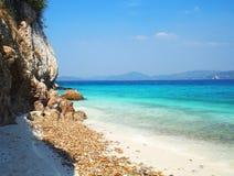 Inseln Khao Kham im Meer, Thailand Lizenzfreie Stockfotografie