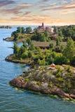 Inseln nähern sich Helsinki in Finnland Lizenzfreie Stockbilder