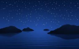Inseln nachts Lizenzfreie Stockfotografie