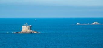 Inseln nah an Guernsey Stockfotografie