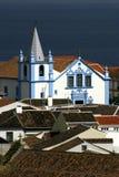 Inseln Portugals Azoren barocke Kirche Terceira - Angra tun Heroismo lizenzfreies stockbild