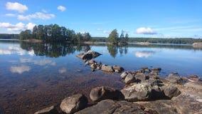 Inseln in Schweden stockbild