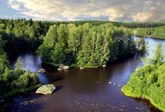 Inseln und Steine Stockfoto