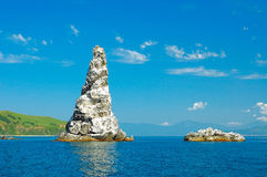 Inseln von Meer von Japan Stockfotos
