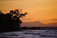 Inselsonnenuntergang Stockbilder