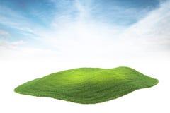 Inselstück des Landes oder der Insel, die in die Luft auf Himmel backgr schwimmen Lizenzfreies Stockfoto