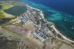 Inselstadt Los Roques Stockfoto