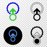 Insemination Vector EPS Icon with Contour Version vector illustration