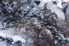 Insenatura congelata Immagini Stock