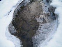 Insenatura coperta di ghiaccio Immagini Stock