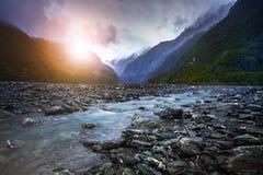Insenatura del ghiacciaio di Franz Josef la maggior parte della destinazione di viaggio popolare Fotografia Stock