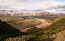 Insenatura del ghiacciaio di vista vicino a PA nazionale di Denali del centro dell'ospite di Eilson Fotografia Stock