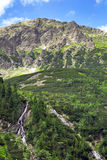 Insenatura della montagna nel parco nazionale di Tatra Fotografia Stock Libera da Diritti