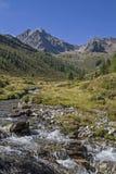 Insenatura della montagna in valle di Oetztal Fotografia Stock