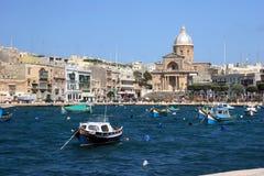 Insenatura di Kalkara, grande porto, Malta Immagine Stock