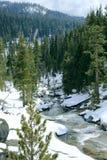 Insenatura di Snowy della montagna Immagine Stock Libera da Diritti