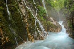 Insenatura e cascate di Wimbach in Germania Fotografia Stock
