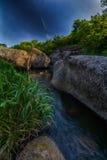 Insenatura fra le rocce del granito Fotografia Stock