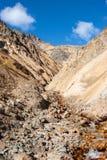 Insenatura nel passo di montagna Fotografie Stock