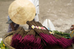 Insence stick. Purple insence stick, asian market Stock Photos