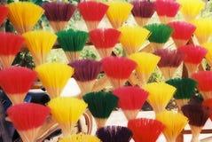 Insence Sticks. Bundles of colorful insence sticks in Vietnam Stock Photo
