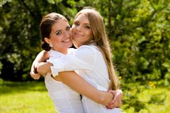 We are inseparable lovely girlfriends Royalty Free Stock Photo