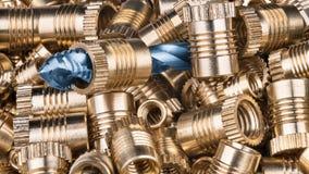 Inserções de bronze da linha e torneira espiral da flauta Foto de Stock Royalty Free