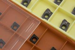 Inserções em umas caixas Fotografia de Stock