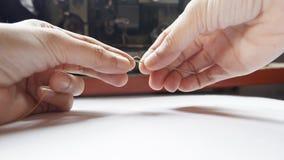 Inserción de la aguja imagen de archivo