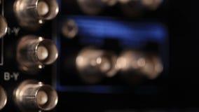 Inserendo cavo componente di rgb il video al videoregistratore archivi video